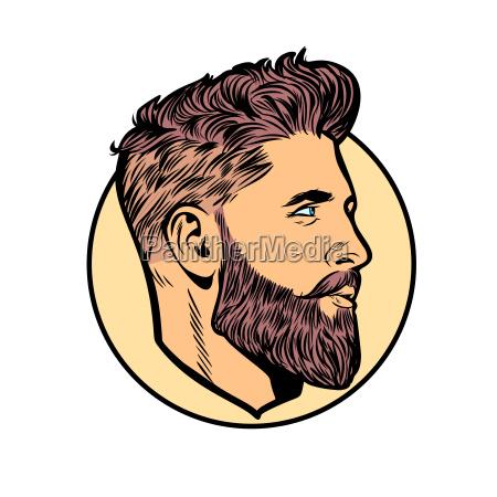 pop art maenner hipster face profile