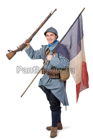 1918 french soldier with rifle