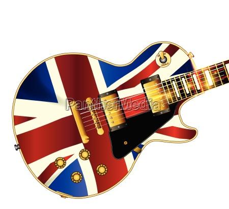 union jack flagge gitarre