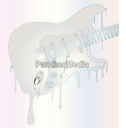 fluessig elektrisch gitarre wachs liquid schmelzend