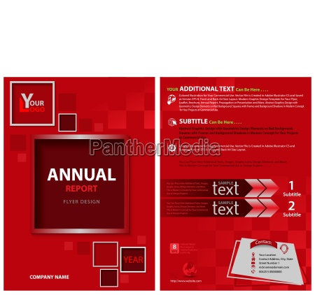 red flyer template with decorative squares