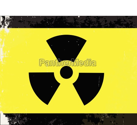 worn radioactive warning symbol