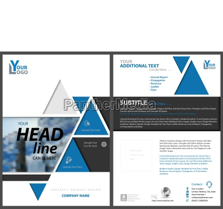 geometric flyer template with triangles