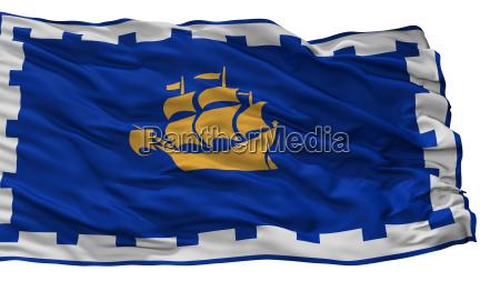 quebec stadtflagge kanada isoliert auf weissem