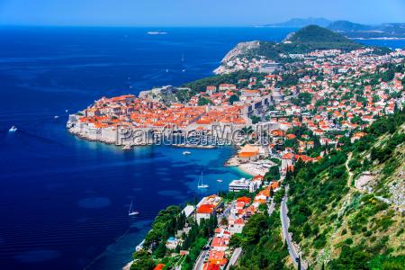 luftaufnahme von dubrovnik kroatien