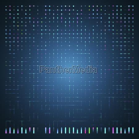 glowing energy flow through circuit board