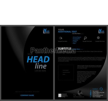 black leaflet design template
