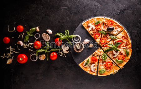 concept of pizza