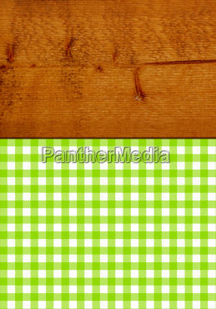 brown rustic wooden texture with green