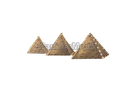 kultur freisteller golden pyramide abgeschieden AEgypten