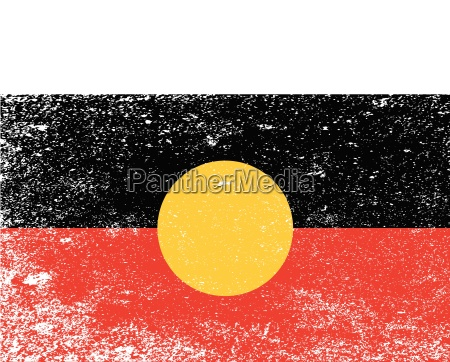 australian aboriginal grunge flag