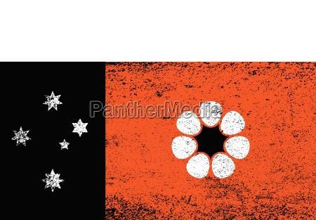 australian northern territory grunge flag