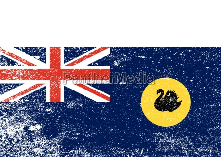 western australia grunge flag