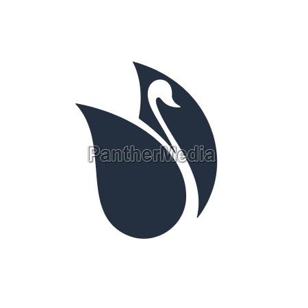kunst tier vogel schwan flach platt