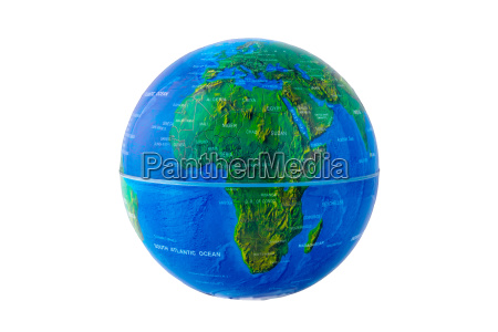 freisteller afrika europa abgeschieden isolierte globus