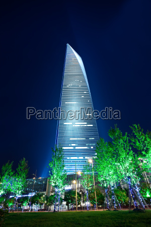 modern building in shanghai at night