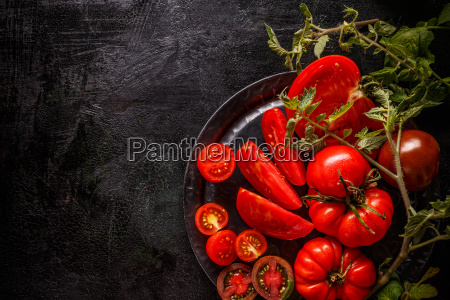 fresh ripe garden tomatoes