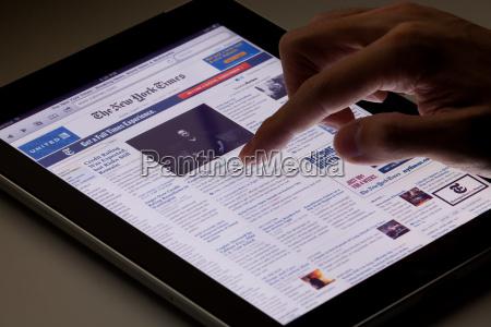 online zeitung auf ipad lesen
