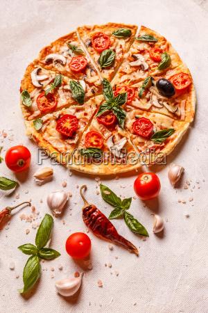 fresh homemede pizza