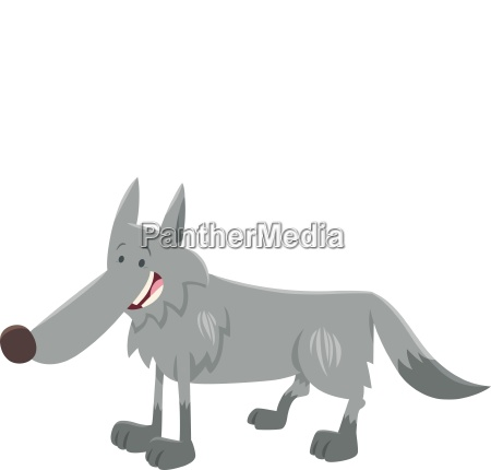 wolf wild animal cartoon character