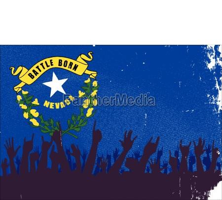 fahne nevada flagge staat erfreut gluecklich