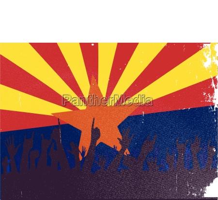 fahne arizona flagge staat erfreut gluecklich
