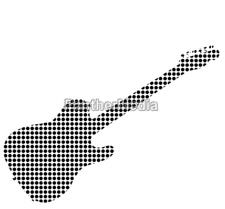 black dot rock guitar silhouette