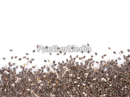 chia seeds with copy space
