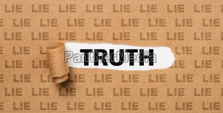 zerrissenpapier wahrheit oder luege