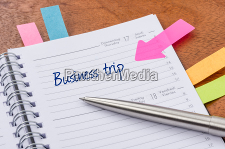 daily planner with the entry business