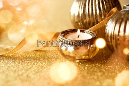goldene weihnachtsdekoration