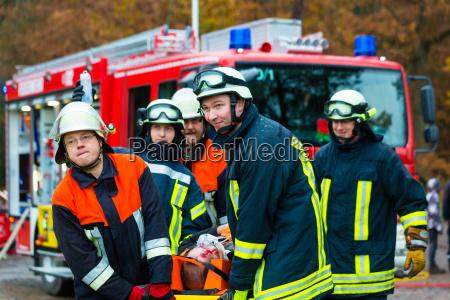 accident fire brigade accident victim