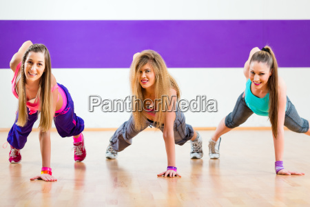 dancer at fitness training in dance