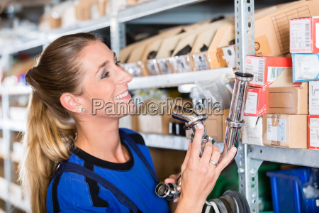 experienced manual female worker in a
