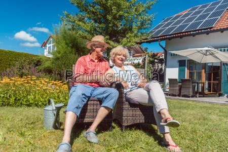 happy senior couple in love relaxing