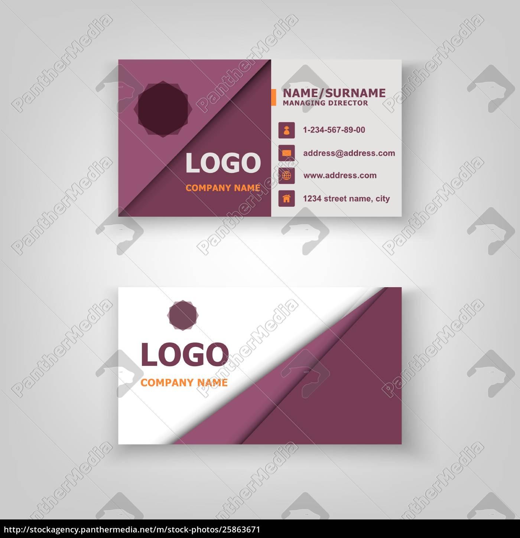 Lizenzfreie Vektorgrafik 25863671 Abstraktes Muster Visitenkarten Vorlagen Design