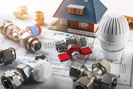 house heating system installation equipment