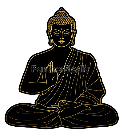 gold buddha meditation zen weiss hintergrund