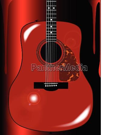 rote akustische gitarre hintergrund