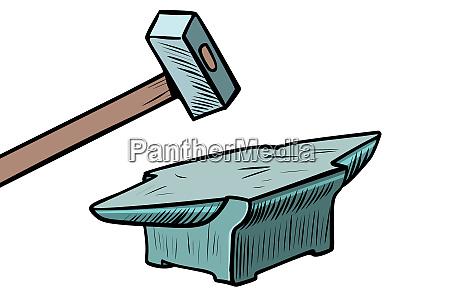 hammer und amboss schmiedewerkzeug