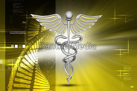 medizinisches symbol mit der dola zelle