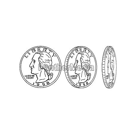 us-dollar-münzspinnen-drachen - 25877730