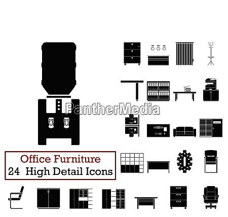 set of 24 office furniture