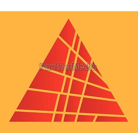 sliced red pyramid