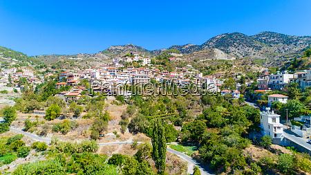 aerial agros village limassol cyprus