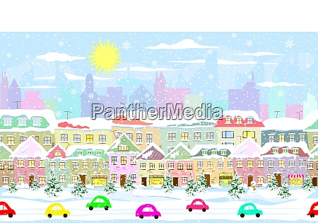 winter stadtbild nahtlos