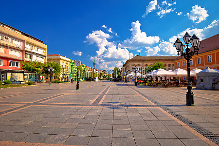 town of sombor square and architecture