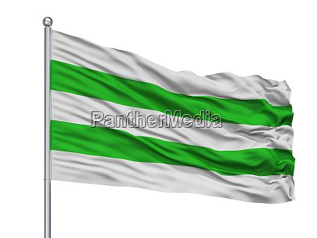 hasseltvlag city flag on flagpole belgium