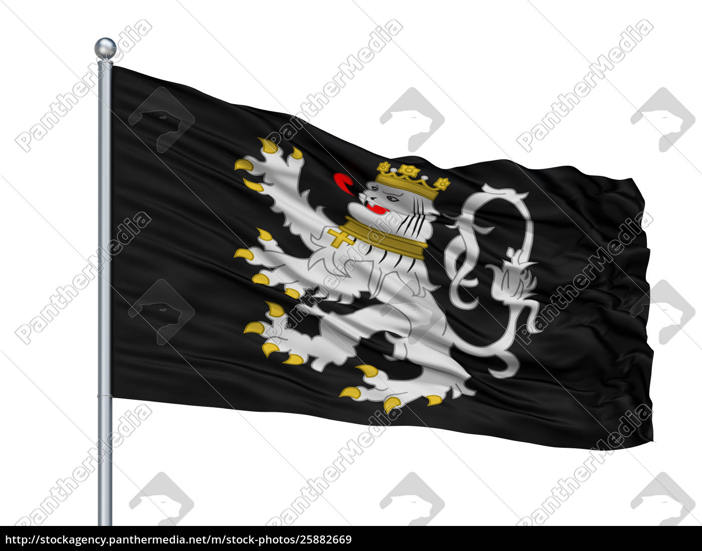 gent, city, flag, on, flagpole, belgien, isolated, on - 25882669