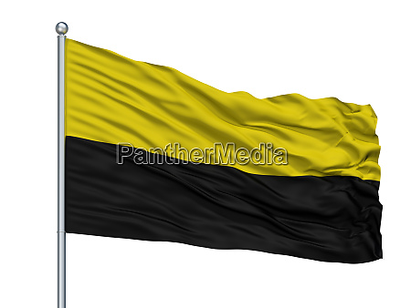 andenne city flag on flagpole belgium
